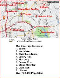 Stone Mountain Map Tucker Georgia Coverage Map Of Tucker And Surrounding Communities