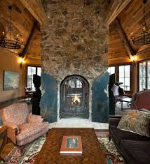 Rustic Modern House Living Room Rustic Decor Ideas The Home Living Room Stone Wall
