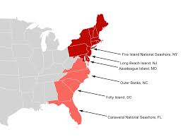 Map Of East Coast United States Retreat Barrier Beaches Meet Their Demise Despite Modest Sea