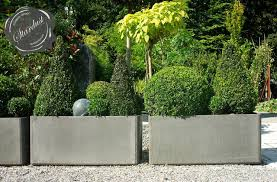 modern landscape and patio design with large modern garden