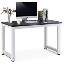 Diy Mdf Desk Home Office Work Wooden Computer Pc Desk Metal Legs Study Table