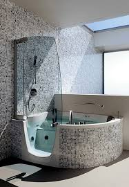 Corner Bathroom Showers Ergonomic Corner Bath With Shower And Whirlpool Function By Teuco
