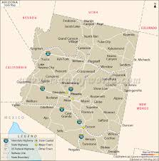 az city map arizona state map az state map