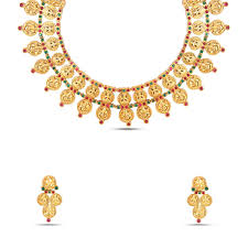 gold tone necklace set images Traditional gold tone kundan necklace set mknks92 maalyaa jpg