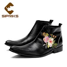 aliexpress com buy sipriks mens zipper boots black genuine