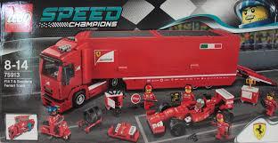 ferrari lego truck lubo creative bricks lego speed champions 75913 f14 t