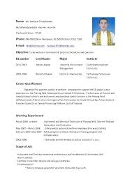 sample resumes for electricians electrical engineer cover letter