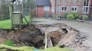 Sinkhole In Backyard Giant U0027sinkhole U0027 Appears In Upper Basildon Front Garden Bbc News