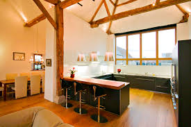 warm modern kitchen brotherton barn designed by the anderson orr partnership