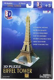 amazon com daron eiffel tower small 3d puzzle 37 piece toys u0026 games
