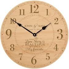 amazon com wedding wall clock or large anniversary clock
