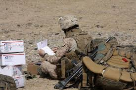 soldiers letter writing team