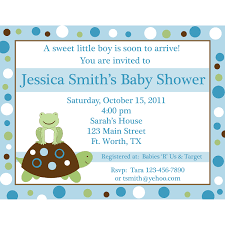 20 personalized baby shower invitations little turtle and