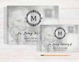 personalized funeral guest book funeral guest book etsy