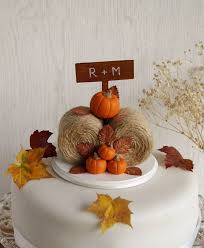 fall wedding cake toppers rustic pumpkin hay bales cake topper fall wedding cake