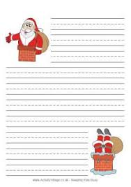 free printable writing paper to santa very cute lined christmas themed writing paper perfect for kids