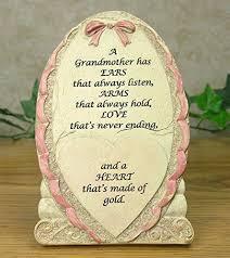 Grandparent Plaques Banberry Designs Grandma Plaque Loving Grandma Saying On A