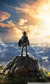 wallpaper mobile legend for android the legend of zelda breath of the wild adventure video game 4k hd