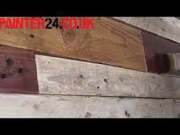 Wood Pallet Headboard Building A Wood Pallet Headboard Youtube