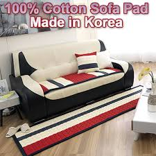 sofa cover couch seat pad mat 100 cotton 24 kinds korea made