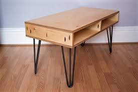 Plywood Coffee Table Items Similar To Plywood Coffee Table On Hairpin Legs On Etsy