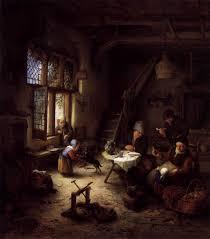 peasant family in a cottage interior 1661 adriaen van ostade