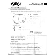 saas oil pressure 52mm gauge black face including sender commodore
