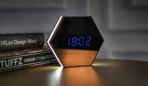 night light alarm clock led night light digital alarm clock with mirror finished display