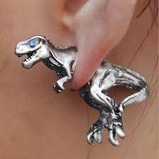t rex dinosaur earrings ancient explorers