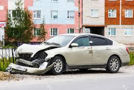 nissan teana novyy urengoy russia july 5 2015 grey motor car nissan teana