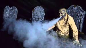 Garden Halloween Decorations Gaseous Zombie Animated Fog Halloween Prop Haunted House Scary