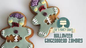 halloween cookie cake zombie gingerbread men cookies youtube