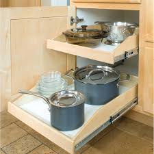 Kitchen Pull Out Cabinet by Made To Fit Slide Out Shelves For Existing Cabinets By Slide A Shelf
