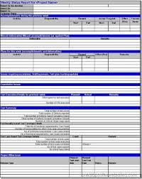 work status report template status report templates 7 free word