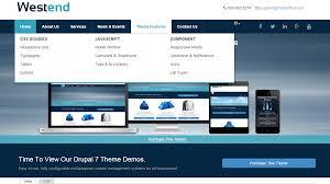 theme drupal menu block westend drupal 7 responsive theme using bootstrap masterflash