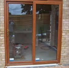 Patio Door Cat Flap Pvc Doors Complete With Cat Flap In Light Oak Supplied And