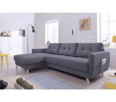 canapé angle anthracite canapé d angle gauche scandinave tissu gris anthracite stockholm