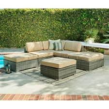 Grey Wicker Patio Furniture by Barton 6 Piece Grey Wicker Sectional Sofa Set For Patio Thy Hom