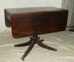 Pedestal Drop Leaf Table A George Iii Mahogany Drop Leaf Pembroke Table Having Single End