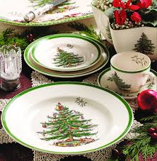 spode tree set of 2 rectangular plates with gold metal