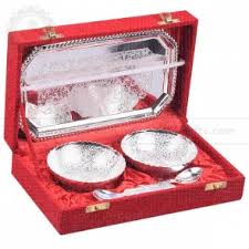 silver gift items german silver plated return gift items nandi gifts and handicrafts