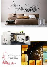 dreamhome new home decor wall stickers large beautiful black white dreamhome new home decor wall stickers large beautiful black white flower vine vinyl wall