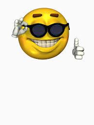 Sunglass Meme - ironic meme smiley face with sunglasses unisex t shirt by