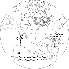 creation coloring pages for sunday coloring page