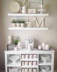 kitchen shelf decorating ideas farmhouse shelves rae dunn mug display our home sweet home