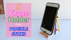 5 types of phone holder diy popsicle stick crafts youtube