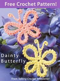 dainty butterfly from talking crochet newsletter click