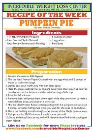 thanksgiving ideal protein pumpkin pie recipes