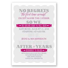 wedding vow cards no regrets vow renewal invitation invitations by