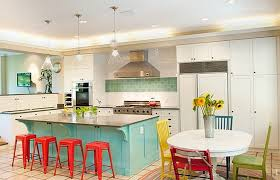 retro kitchen island green island and stools for retro kitchen decor ideas artenzo